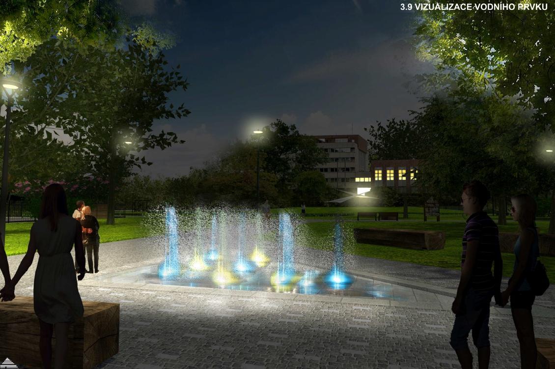 Stavba vodního prvku v parku přešla z podzemí na povrch